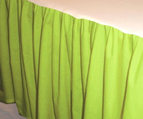 Lime Green Dustruffle Bedskirt Queen Size