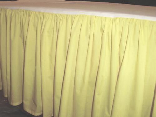 Pale Yellow Dustruffle Bedskirt Queen Size