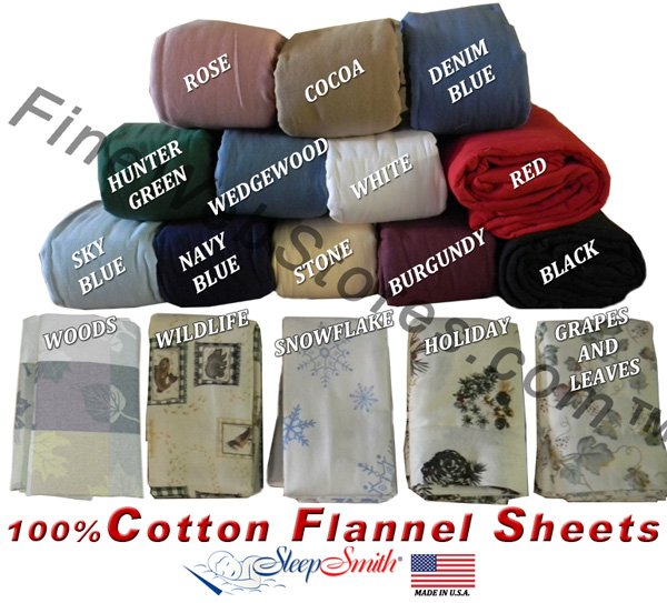 Expanded Queen Size Flannel Sheet Sets