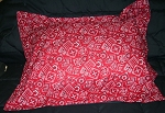 Red Bandana Bedding Full Size Pillow Sham with Flange
