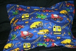 Kids Construction Bedding Full Size Pillow Sham with Flange