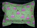 Fairy Princess Bedding Full Size Pillow Sham with Flange