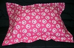 Peace Sign Bedding Full Size Pillow Sham with Flange