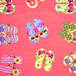Flip Flop Red Tropical Bedding and Beach Bedding