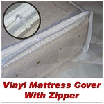 Eastern King Vinyl Mattress Cover with Zipper