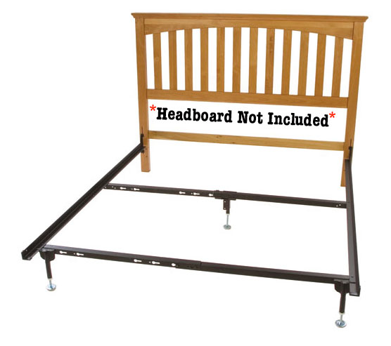 queen headboard hook on rail set for beds without a footboard. Black Bedroom Furniture Sets. Home Design Ideas