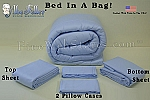 Light Blue Bed In A Bag King Size