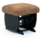 Glide Ottoman in espresso finish with fabric options
