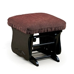 Glide Ottoman with finish and fabric options