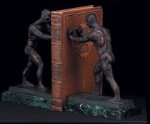 Bronzed Metal Atlas Bookends - Set of Two