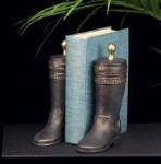 Bronzed Boot Bookends - Set of Two