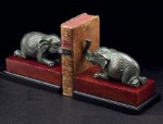 Metal Elephant Bookends - Set of Two