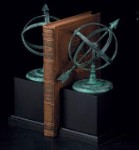 Verdigris Sundial Bookends - Set of Two