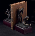 Bronzed Brass Golfer Bookends - Set of Two