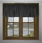 Black Window Valances