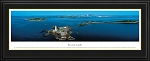 Boston Light, Massachusetts Deluxe Framed Skyline Picture