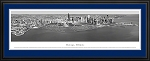 Chicago, Illinois Black And White Deluxe Framed Skyline Picture 8