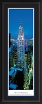 New York, New York Chrysler Building (Twilight) Deluxe Framed Skyline Picture