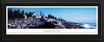 Pemaquid Point Lighthouse In Bristol, Maine Deluxe Framed Skyline Picture