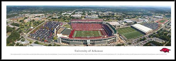 University Of Arkansas Framed Stadium Picture Large Size