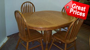 Oak Tables and Chairs