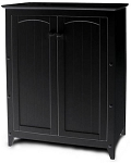 Double Door Kitchen Black Storage Cabinet