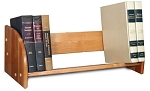 Deluxe Tabletop Book Rack Natural Lacquer Finish