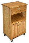 Open Storage Cuisine Butcher Block Kitchen Island Cart