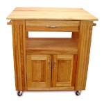 Heart-Of-The-Kitchen Butcher Block Kitchen Island with Drop Leaf