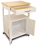 Kitchen White Trolley Cart