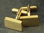 Gold Plated Cufflinks with Rectangle Shape T.P.