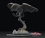 American Bald Eagle Bronzed Metal Sculpture T.P.