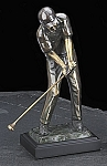 Tee Off 3 Golfer Bronzed Metal Sculpture T.P.