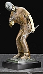 Nice Putt Golfer Brass Metal Sculpture with Marbleized Finish T.P.