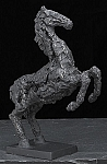 Mustang Horse Antracid Glazed Metal Sculpture T.P.