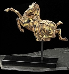 Tang Horse Antique Finished Sculpture on Marble Base T.P.