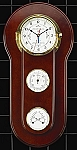 Brass Tide and Time Wall Clock with Barometer and Thermometer T.P.