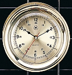 Brass Interchangeable Quartz Clock With Gold Tone Dial Face T.P.