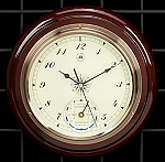Wall Tide and Time Clock with Mahogany Wood Base T.P.