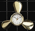 Solid Brass Propeller Wall Clock T.P.
