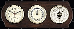 Weathermaster Tide and Time Wall Clock with Barometer Thermometer on Ash Wood Base T.P.