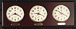 Multi Zone Wall Clock With Brass Plate Accents T.P.