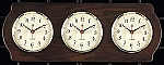 Weathermaster Multi Zone Wall Clock on Ash Wood Base T.P.