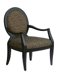 Lenox Transitional Hand-Carved Accent Chair with Oval Back
