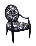 Charlotte Sleek Transitional Accent Chair