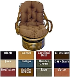 Papasan Swivel Rocker Cushion Micro Suede