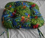 Parrots Beach Decor Chair Cushion