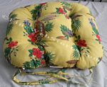 Woodies Yellow Beach Decor Chair Cushion