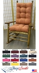 Kennedy Style Rocking Chair Solid Cushion Set JFK Style Rocker Cushions