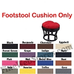Footstool Solid Color Replacement Cushion